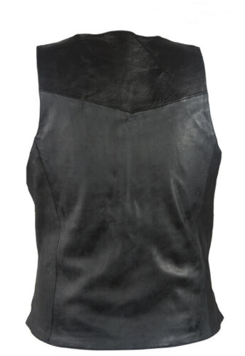 Men/'s Cowhide Leather Bike Apparel Bullet Proof Replica Motorcycle Vest