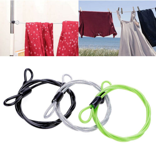 Hot!Practical 100cm Multi-function Double Loop Safety Wire Lock Steel Lock Wire