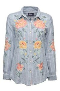 Johnny-Was-Workshop-Brenna-Button-Back-Shirt-Embroidered-New-Boho-Chic-W19518