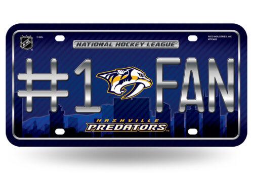 Nashville Predators #1 Fan Auto Car Truck Metal License Plate Tag New NHL