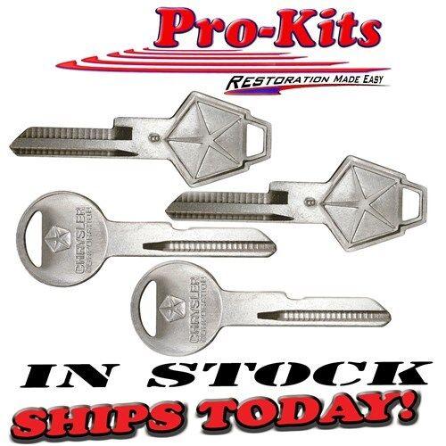 New OE Style Uncut Keys with Pentastar Dodge Plymouth Chrysler Cars /& Trucks
