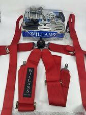 Willans Point Club 6 Nascar Rotary Racing Harness 33 Red Single Seater 2378