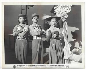 Vintage Movie Photo VIrginia Mayo 1952 She's Working Her Way Through College #4