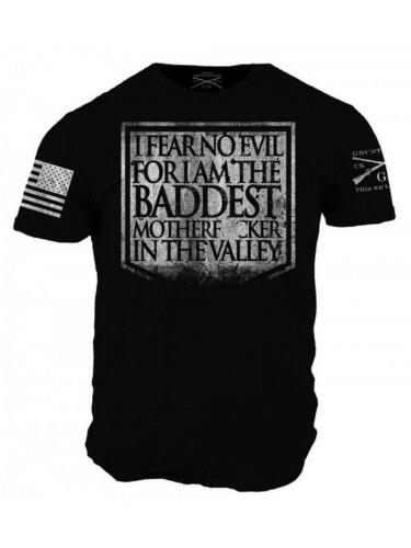 Grunt Style Men/'s Graphic Military Tee Shirt Fear No Evil T-Shirt