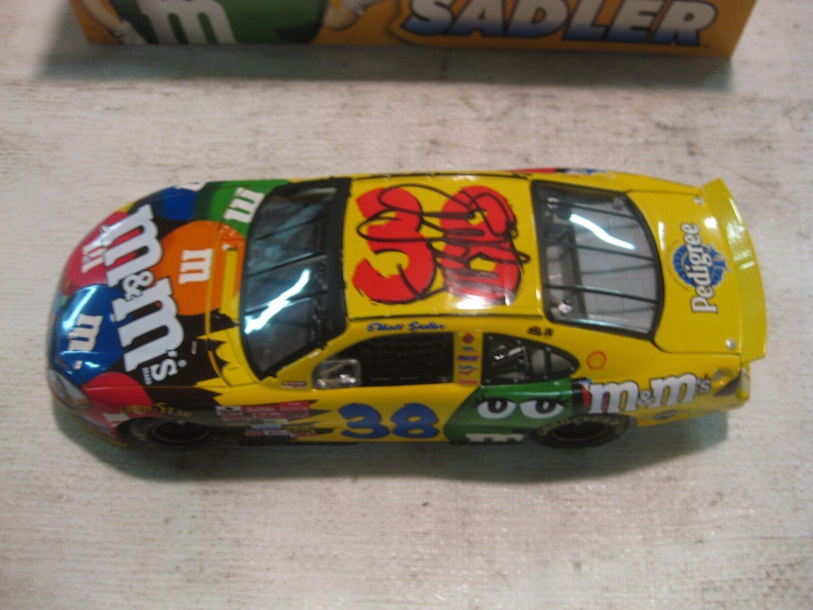 Rare LE Nascar Nascar Nascar  38 Ford Taurus Elliott Sadler M&Ms 124 Scale Diecast 2003 dc1088 0970f2