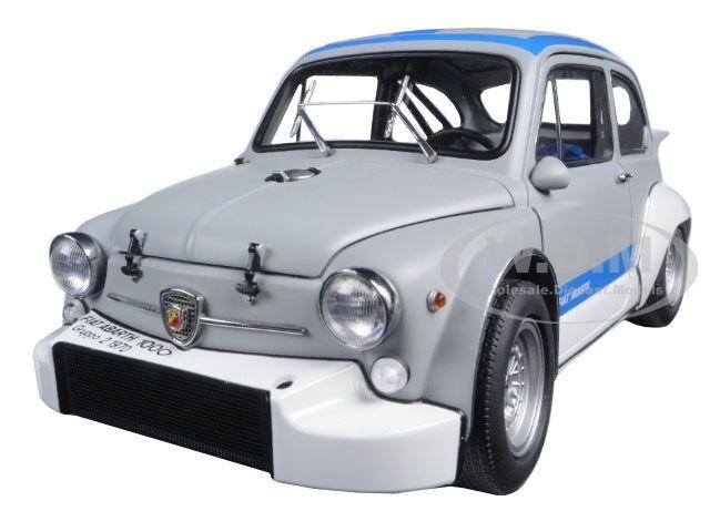 Fiat abarth 1000 tcr matt grau w   blaue streifen 1,18 ein diecast modell autoart 72642