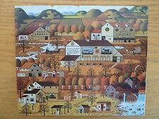 Charles Wysoki Print on Metal Plate  Americana  Apple Orchard Cider Barn  L 126