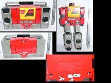 F VINTAGE 80's TRANSFORMERS Blaster Robot poste radio - Takara Hasbro Japan 1984