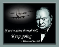 Winston Churchill Laminated Print With One Of His Sayings