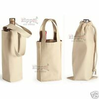6 Liberty Bags Single Or Double Bottle Wine Tote Or Drawstring Bag 1725 Cotton