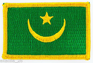 PATCH ECUSSON BRODE DRAPEAU MAURITANIE INSIGNE THERMOCOLLANT NEUF FLAG PATCHE SnSFOQ8M-09093530-607711586
