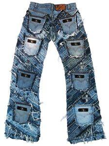 Ticila SEVEN STAR GIGOLO Special Edition Rivets Jeans