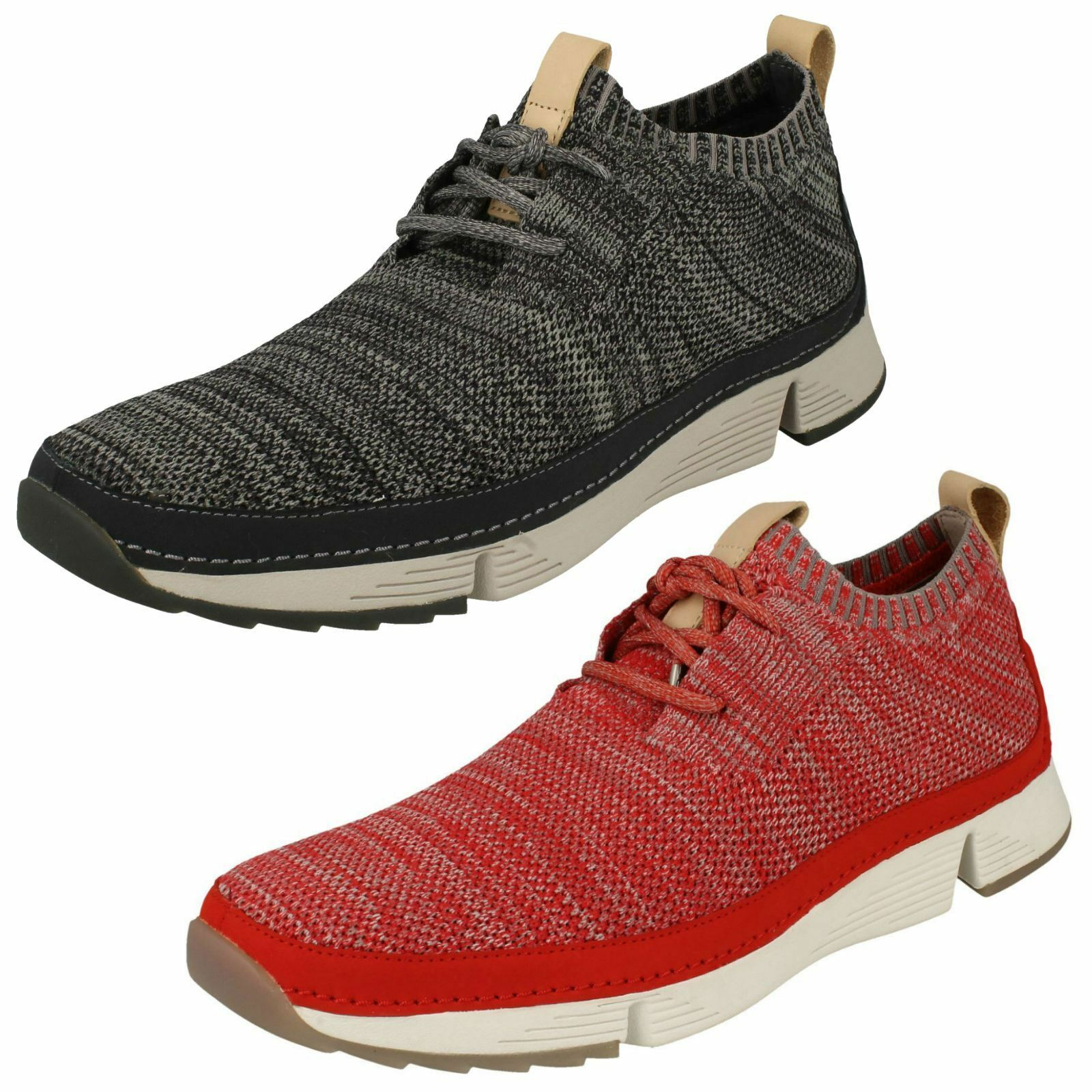 Mens Clarks Casual Lace Up Trainers - Tri Native