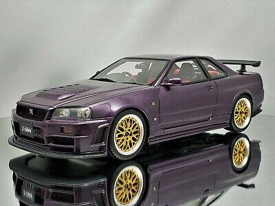 Otto Nissan Skyline GTR NISMO Z TUNE R34 Midnight Violet//or 1:18 OT811 Ltd...