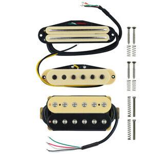 image is loading new-electric-guitar-pickups-humbucker-single-pickups-cream-