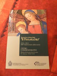 Coffret BU 2€ commémorative Saint Marin 2013 - Pinturicchio