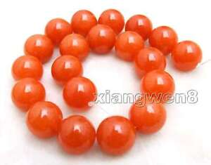 20mm Round China Red Jade Loose Beads for Jewelry Making Necklace Strand 15''-69
