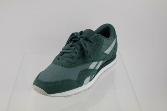 5e3c77d1a8bba2 Men s Reebok BS8269 CL Nylon RS Green Lace-up Sneakers Size 10.5 M ...