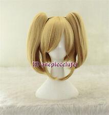Vocaloid Kagamine Rin Hard-R.K.mix Lolita blonde Cosplay Wig Clip on 2 Ponytails