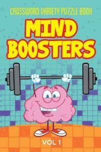 Details about Crossword Variety Puzzle Book: Mind Boosters Vol 1  Brand  New, Free shipping
