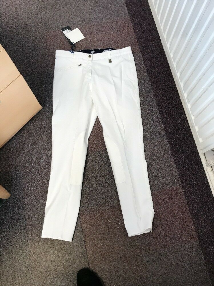 Puffa Rowley Ladies Girls White Breeches Size 16 34  RRP  Jodhpurs Showing