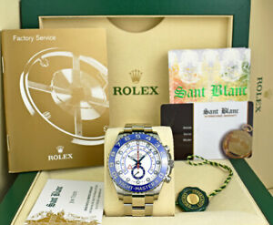 ROLEX-Men-44mm-Stainless-Steel-YachtMaster-II-Blue-Hands-116680-SANT-BLANC