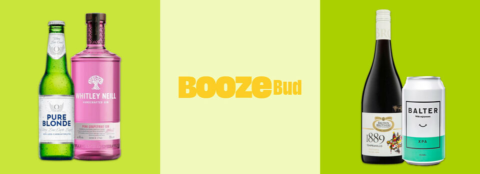 Use code PBUD15 - 15% off* BoozeBud 6th birthday sale