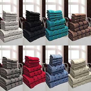 Set 8 Asciugamani da Bagno Spugna Cotone Egiziano Idea Regalo Telo ...