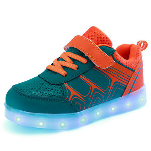Details About 7 Color Children Kids Led Light Up Luminous Shoes Boys Girls Casual Dance Shoes