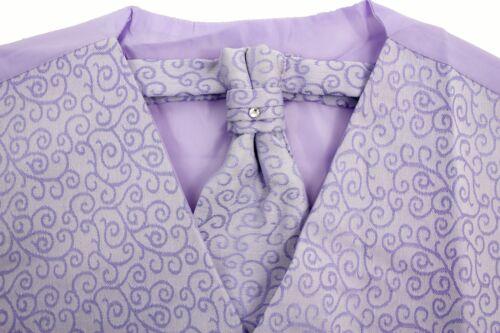 3 Piece Wedding Prom Party Pageboy Swirl Waistcoat Cravat Set Boys Waistcoats