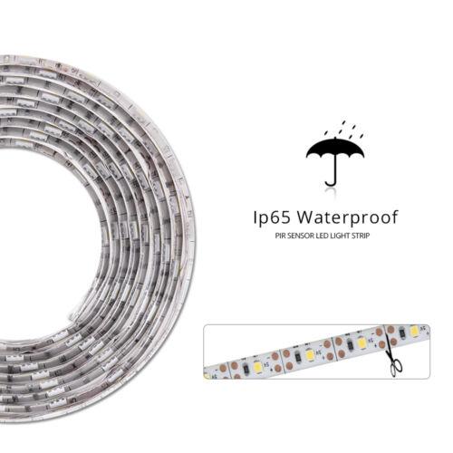 1-5M LED Wireless PIR Motion Sensor Wardrobe Cabinet LED Strip Light for Bed TV