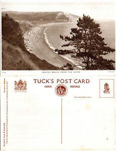 1930-039-s-SEATON-BEACH-FROM-THE-CHINE-SEATON-DEVON-UNUSED-TUCK-POSTCARD