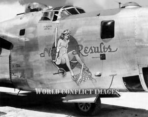 B/&W WW2 Photo WWII B-24 Bomber 308th BG Nose World War Two USAAF Pacific 5015