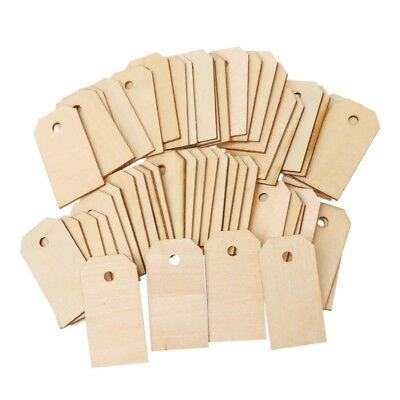 Unfinished Rectangle Party Favor Gift Wooden Tags Rope Wedding Scrapbooing