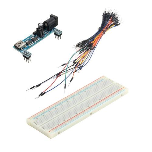 MB102 Power Supply Module 3.3V 5V+MB102 Breadboard Board 830 Jumper cable ATF