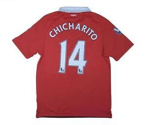 Manchester United 2010-11 Authentic Home Shirt CHICHARITO #14 (eccellente) M