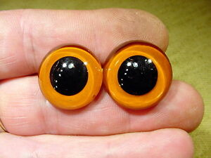 a pair vintage solid Glass Eyes size 22 mm teady bear taxidermy age 1910 Art A94