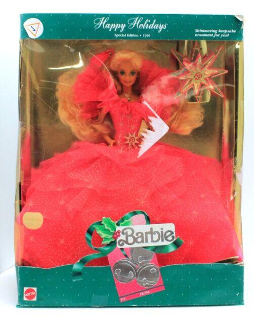 Happy Holidays 1990 Barbie Doll For Sale Online Ebay