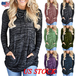 Plus-Size-Womens-Long-Sleeve-Sweatshirt-Ladies-Casual-Tops-Blouse-Sport-T-shirt