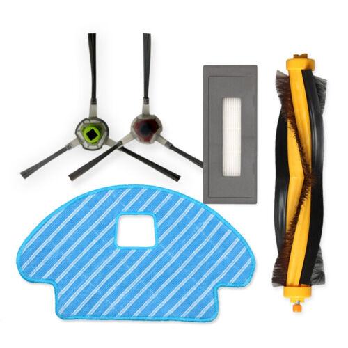 5//13stk Filter Haupt Seiten Bürste Kits für Ecovacs Deebot OZMO 930 Staubsauger