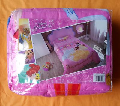 170x250 cm TRAPUNTINO PRIMAVERILE LETTO SINGOLO bambina PRINCIPESSE DISNEY