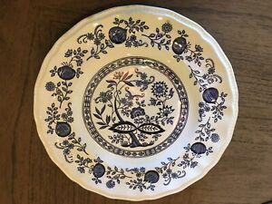 "Kensington Ironstone Staffordshire Coventry Blue Onion 10/"" Dinner Plate"