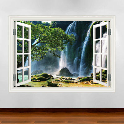 Tropical Window Frame wall art sticker decal transfer mural Graphic print WSD613
