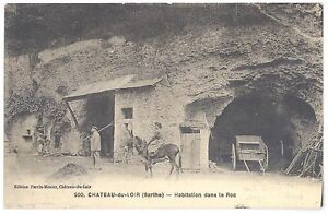 CPA-72-CHATEAU-DU-LOIR-Sarthe-200-Habitation-dans-le-Roc