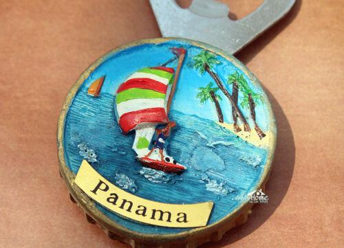 touristique souvenir la Résine 3D Aimant De Réfrigérateur Ouvre-Bouteille Bière Vacances au Panama