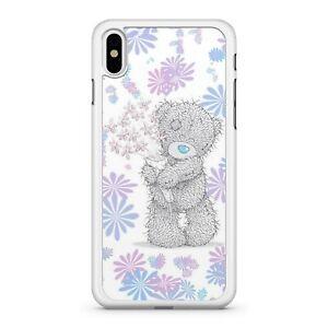 Soffice-Blu-Naso-Orsacchiotto-Colorato-Floreale-Rose-2D-Custodia-Cover-Telefono