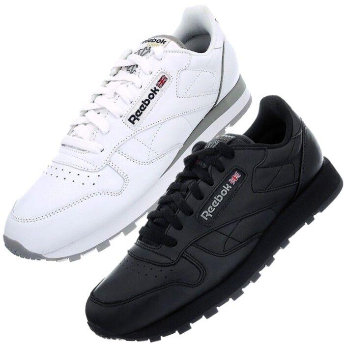 Reebok Classic Leather Blanc Ou Noir Homme Femme Fashion Sneaker Chaussures Neuf Bonne RéPutation Sur Le Monde