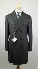 New. BRUNELLO CUCINELLI Gray Wool Double Breasted Overcoat Coat 50/40/M $5795