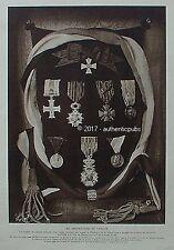 VIEUX PAPIER LES DECORATIONS DE VERDUN MEDAILLES COUSSIN DE 1916 PUBLICITE RARE