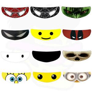 SkullSkins Helmet Visor Sticker Motorcycle Shield Decal Tint Venom - Motorcycle helmet visor decals